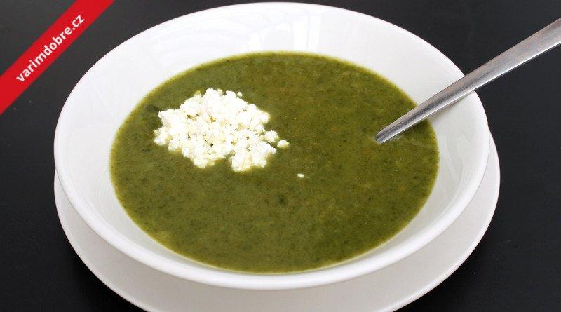Špenátová polévka s nivou