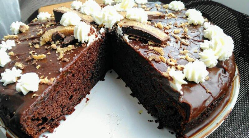 Čoko-lískový dort bez mouky
