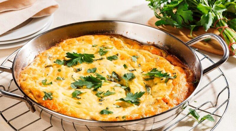 Frittata ze dvou druhů sýrů