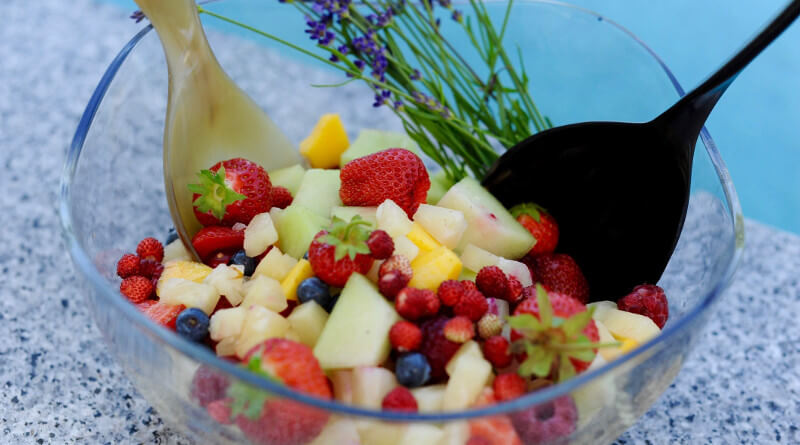 Míchaný salát z ovoce a cukrového melounu