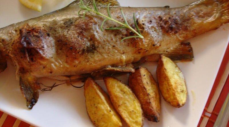 Pečené parmice na cibuli česneku a zázvoru